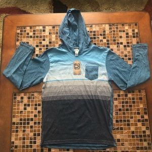 Boys Large hooded long sleeve shirt
